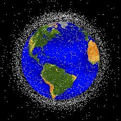Debris in space