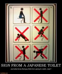 Signs of japanese toilet